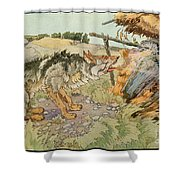 The Three Little Pigs Shower Curtain