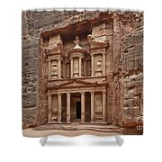the treasury Nabataean ancient town Petra Shower Curtain