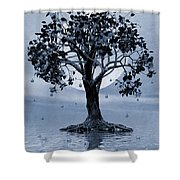 The Tree That Wept A Lake Of Tears Shower Curtain