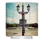 The Victory Column In Berlin Germany Shower Curtain