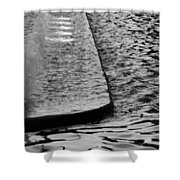 The Water Fountain In Black And White Shower Curtain