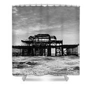The West Pier In Brighton Shower Curtain