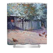 The White Picket Fence Shower Curtain