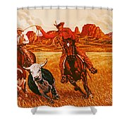 The Wranglers Shower Curtain