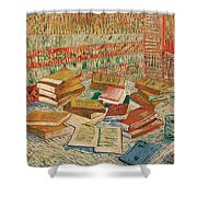 The Yellow Books Shower Curtain