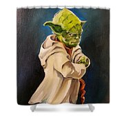 There Is No Try Shower Curtain