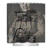Thomas Edison's Phonograph Shower Curtain