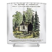 Thoreau Walden, 1875 Shower Curtain