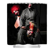 Three Clowns Having Fun Shower Curtain