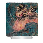 Three Dancers In Red Costume Shower Curtain