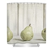 Three Pear Shower Curtain by Edward Fielding