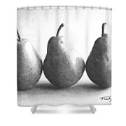 Three Pears Shower Curtain