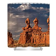 Three Sisters Hoodoos Goblin Valley Utah Shower Curtain