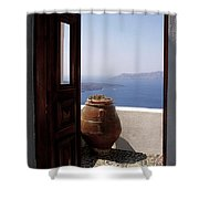 Through This Door Shower Curtain by Julie Palencia