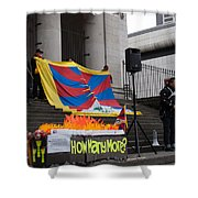 Tibetan Protest March Shower Curtain