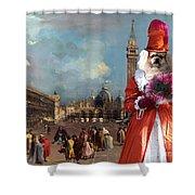 Tibetan Spaniel Art Canvas Print  Shower Curtain