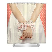 Tied Shower Curtain