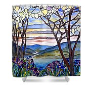Stained Glass Tiffany Frank Memorial Window Shower Curtain