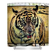 Tiger Tongue Shower Curtain