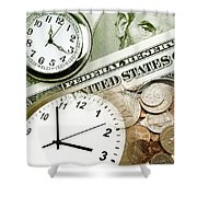 Time Is Money Concept Shower Curtain