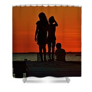 Time With Friends Shower Curtain