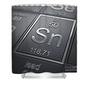 Tin Chemical Element Shower Curtain