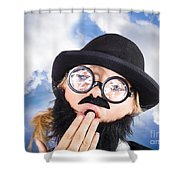 Tired Man With Day Sleeping With Insomnia Shower Curtain