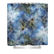 Tissue Paper Blues Shower Curtain