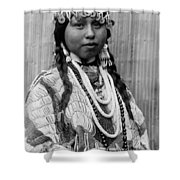 Tlakluit Indian Woman Circa 1910 Shower Curtain by Aged Pixel