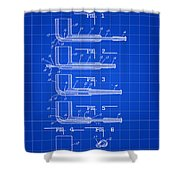 Tobacco Pipe Patent 1944 - Blue Shower Curtain