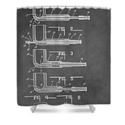 Tobacco Pipe Patent Shower Curtain