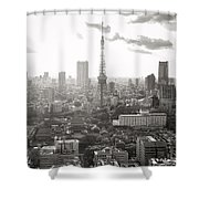 Tokyo Tower Square Shower Curtain