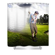 Top Flight Golf Shower Curtain