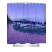 Top Of Mount Mitchell After Sunset Shower Curtain