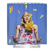 Toss The Feathers Shower Curtain