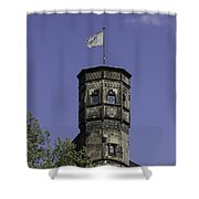Tower And Flag Cologne Germany Shower Curtain