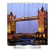 Tower Bridge In London At Dusk Shower Curtain by Elena Elisseeva
