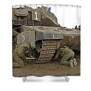 Track Replacement On A Israel Defense Shower Curtain by Ofer Zidon