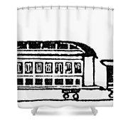 Train, 19th Century Shower Curtain