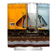 Train Cars 2 Shower Curtain