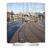 Transport Infrastructure In Amsterdam Shower Curtain