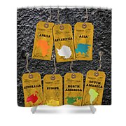 Travel Tags Shower Curtain