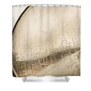 Travelling Photographer Taking Wet Weather Photo  Shower Curtain