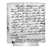 Treaty Of Alliance, 1778 Shower Curtain