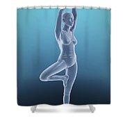 Tree Yoga Pose Shower Curtain
