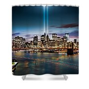 Tribute In Light Memorial Shower Curtain