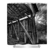 Trinity Road Covered Bridge Shower Curtain