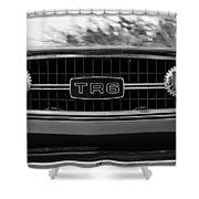 Triumph Tr 6 Grille Emblem Shower Curtain