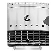 Triumph Tr3 Grille Emblem Shower Curtain