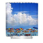 Tropical Holiday Destination Shower Curtain